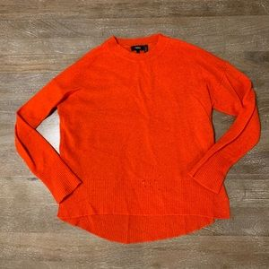 Vibrant red cashmere sweater